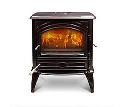 Печь камин чугунная DOVRE 640 CB коричневая майолика, фото 3
