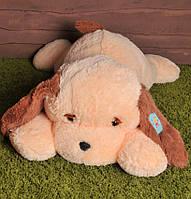 Мягкая игрушка Алина Собака Тузик 100 см персиковый