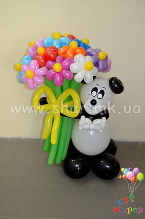 Панда с букетом ромашек , фото 2