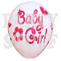 """Воздушные шары пастель ассорти Baby Girl 12"""" (30 см) 100 шт"""