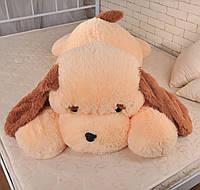 Большая игрушка собака Алина Тузик 140 см персиковый, фото 1