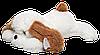 Большая плюшевая Собака Алина Тузик 140 см белый