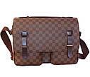 Мужская кожаная сумка LV300205 коричневая, фото 2