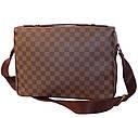 Мужская кожаная сумка LV300205 коричневая, фото 3