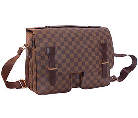 Мужская кожаная сумка LV300205 коричневая