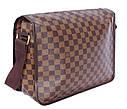 Мужская сумка из кожзаменителя LV300206 коричневый, фото 3