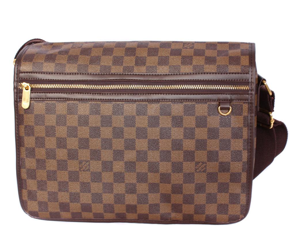 Мужская сумка из кожзаменителя LV300206 коричневый