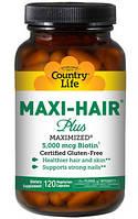 Витамины для волос, кожи и ногтей Maxi-Hair ® Plus 120 капсул, стеклянная банка., фото 1