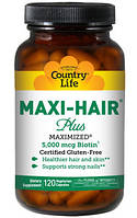 Витамины для волос, кожи и ногтей Maxi-Hair ® Plus 120 капсул, стеклянная банка.