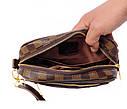 Мужской клатч из искусственной кожи LV300208 коричневый, фото 6
