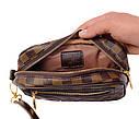 Мужской клатч из искусственной кожи LV300208 коричневый, фото 7