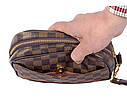 Мужской клатч из искусственной кожи LV300208 коричневый, фото 9