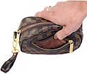 Мужской клатч из искусственной кожи LV300208 коричневый, фото 10