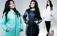 Женская курточка большие размеры , ткань плащевка ,синтепон 100 3 расцветки ,фото реал ЛЯ №1527