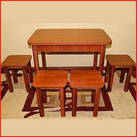 Комплект стол+  4 табуретки