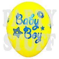 """Воздушные шары ассорти пастель Baby Boy 12"""" (30 см) 100 шт"""