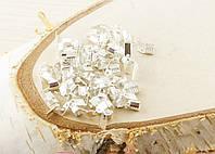 Зажимы под серебро для ленты 10мм  (2 штуки) (товар при заказе от 200 грн)