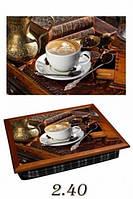 Поднос с подушкой Стол с кофе