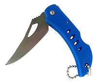 Нож брелок синий складной 135х60, фото 1
