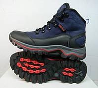 Ботинки подростковые Ecco зимние кожаные синие на меху E0010