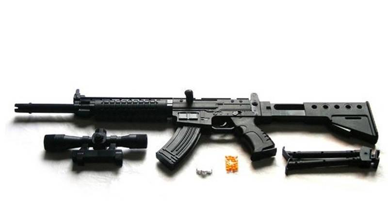 Автомат TS53A,+ лазер,+ фонарик. Игрушечное детское оружие. Детский автомат TS 53 A, фото 2