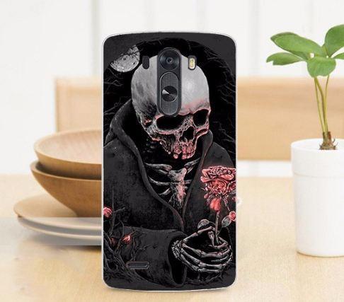 Эксклюзивный чехол для LG G3 Optimus D855 D857 с рисунком Скелет с розой