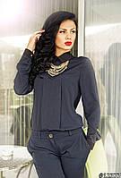 Блузка женская, ткань креп-шифон ,4 расцветки, фото реальное ИБП № Аризона