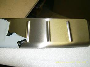Накладка на задний бампер Ford Tourneo Custom (Omsa) матовая