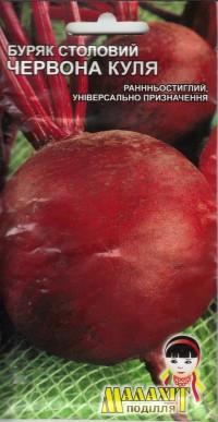 Семена свекла столовая Красный шар 20г Бордовая (Малахiт Подiлля)