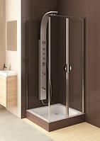 AQUAFORM (103-06357) GLASS 5 Маятниковые двери для монт.в нишу или со стенкой90х185 хром прозрач.