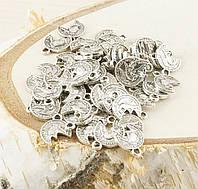 Подвеска монетка серебро 14мм