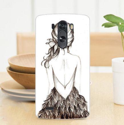 Чехол-накладка для LG G3 Optimus D855 D857 с рисунком Девочка
