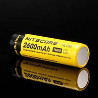 Аккумулятор литиевый Li-Ion 18650 Nitecore NL186 3.7V (2600mAh), защищенный, фото 1