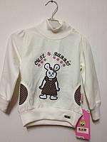 Детская одежда оптом Гольф с начесом для девочек Toontoy оптом р.1-4лет
