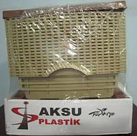 Комод пластиковый Rattan 4 секции