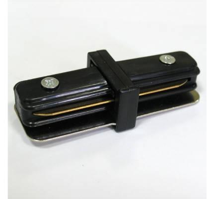 Соединитель для треков LED светильников l8-016 прямой (180*) однофазный 16A черный Код.57212, фото 2