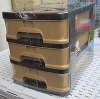 Комод пластиковый для канцтоваров Mini 3 секции