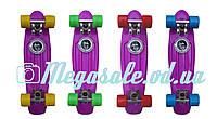 Скейтборд/скейт пенни борд (Penny Board) пенни Fish: фиолетовый/желтый