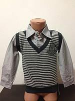 Детская Рубашка-обманка для мальчиков размер 5-6 лет, фото 1