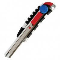 Нож металлический с резиновыми вставками под лезвие 18мм INTERTOOL HT-0510