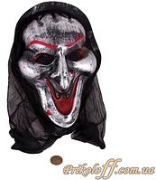 Маска на Хеллоуин «Довольный демон в капюшоне»