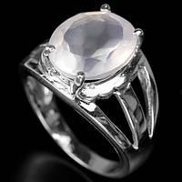 Розовый кварц, серебро 925, кольцо