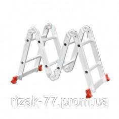 Лестница INTERTOOL алюминиевая мультифункциональная трансформер 4x2 ступ. 2,50 м INTERTOOL LT-0028