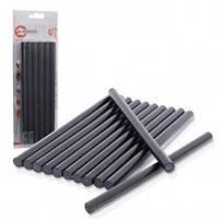 Стержни клеевые, силиконовые, черные. 11,2 мм x 200 мм, 12 шт. INTERTOOL RT-1023