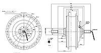Мотор-колесо заднее MAC 36-48В 1000Вт