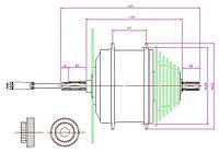 Мотор-колесо Mini R100 заднее 36В 350Вт