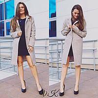 Женское пальто из твида на подкладке