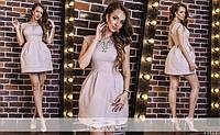 Платье, ткань:Шелковый жаккард (ткань плотная с набивным узором) 6 расцветок ВБ №00313