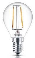 Лампа светодиодная декоративная philips led fila nd e14 2.3-25w 2700k apr (929001180207)