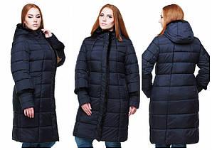 Женская зимняя куртка с капюшоном, хорошая цена, фабрика Харьков, Анеля, в цветах, 48-64